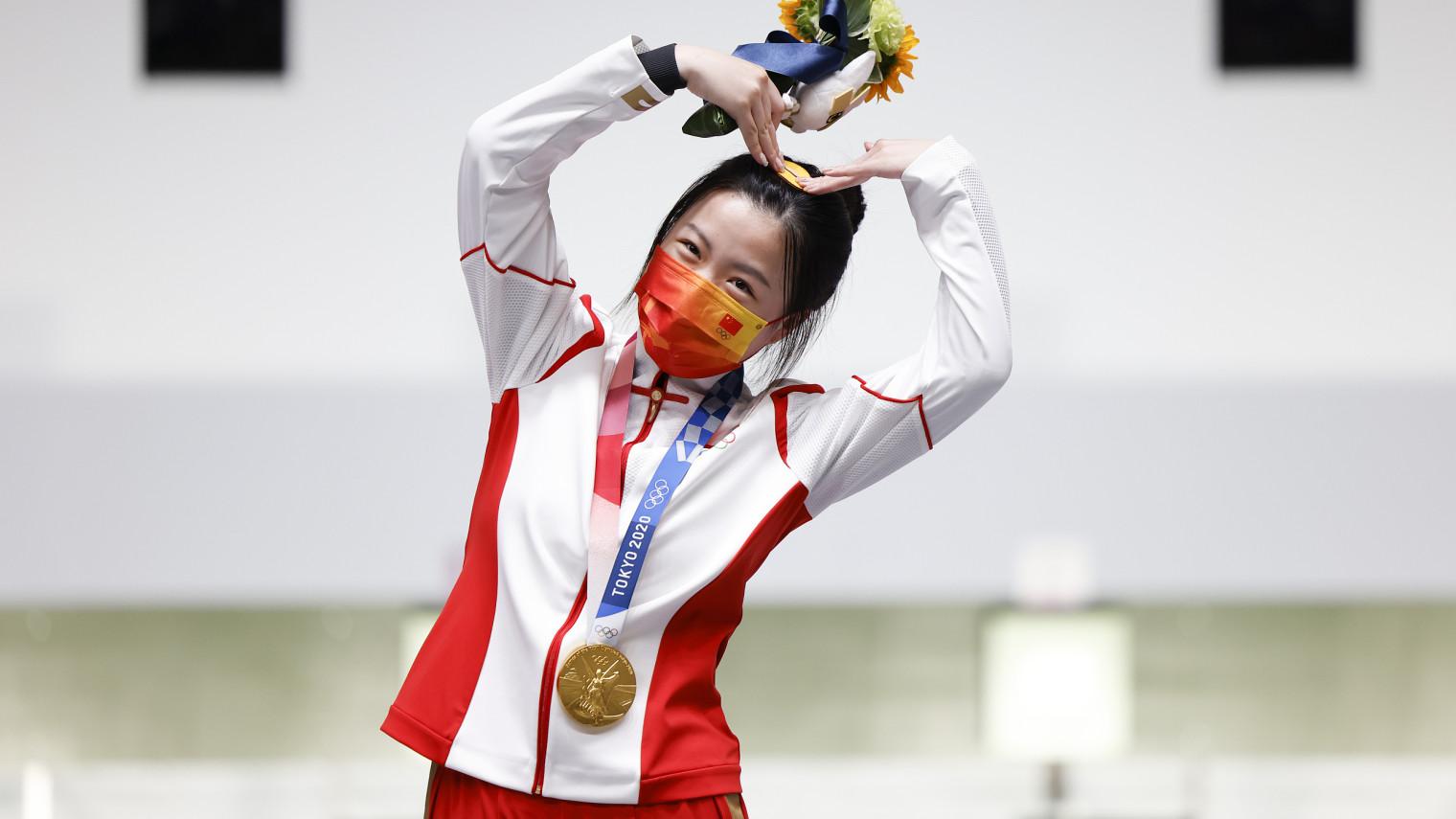 """日销30000单!00后奥运冠军""""杨倩同款""""卖断货了"""
