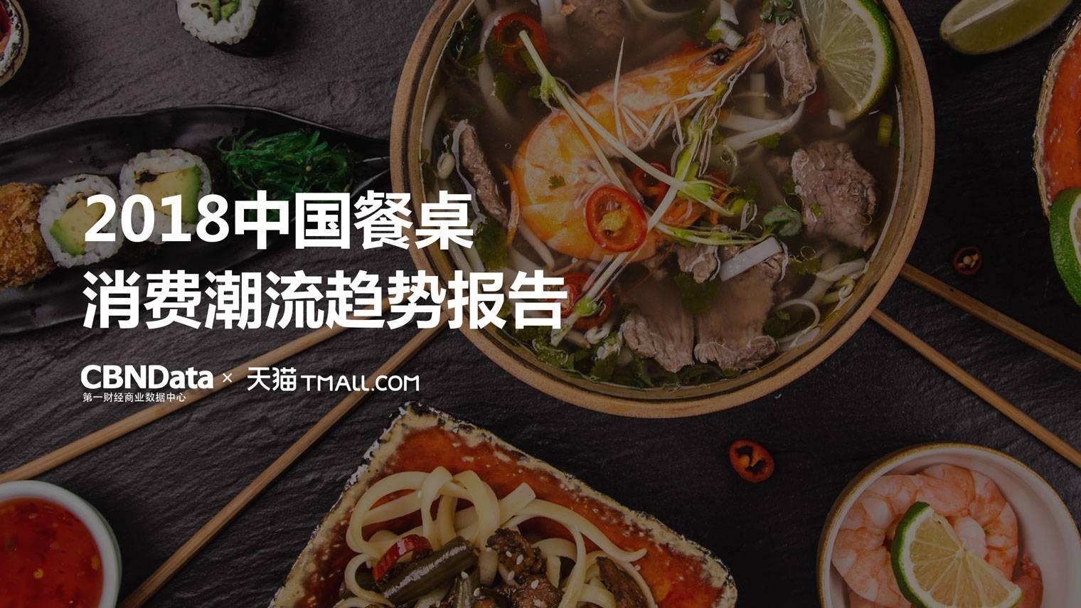 2018中国餐桌消费潮流趋势报告